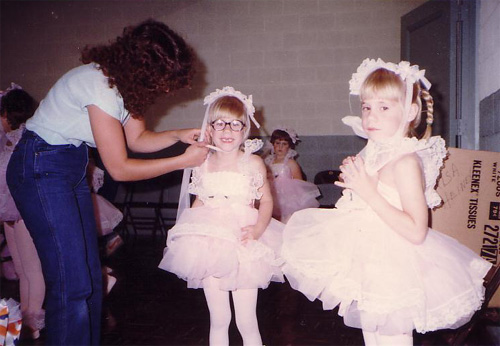 Carla and Carisa's first ballet recital